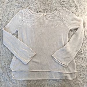 Moth Anthropologie White Sweater